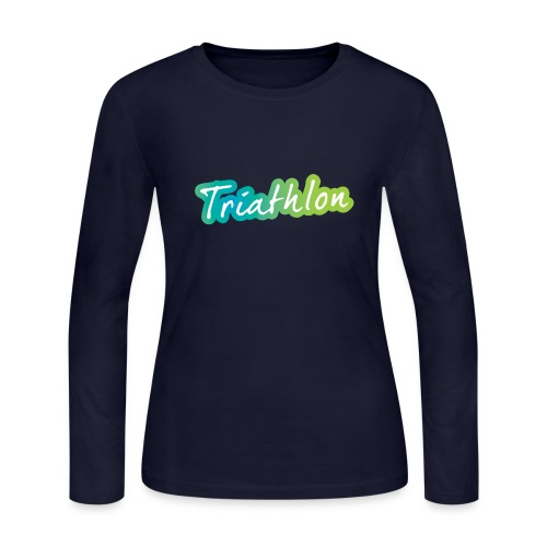 A great Triathlon gift for your friend or family - Women's Long Sleeve Jersey T-Shirt