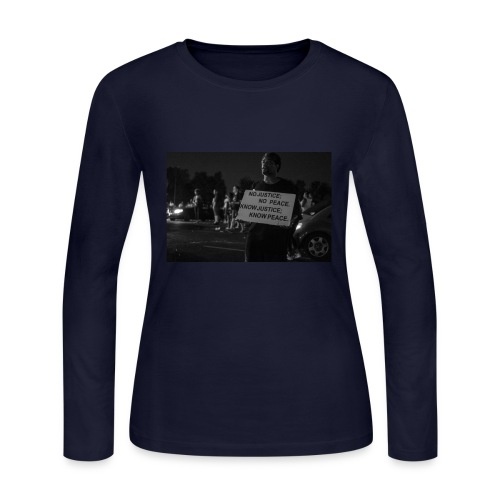 no justice no peace know justice know peace - Women's Long Sleeve Jersey T-Shirt