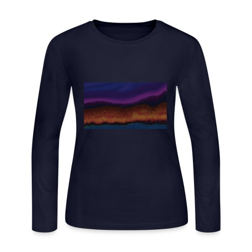 Fall Scene - Women's Long Sleeve Jersey T-Shirt
