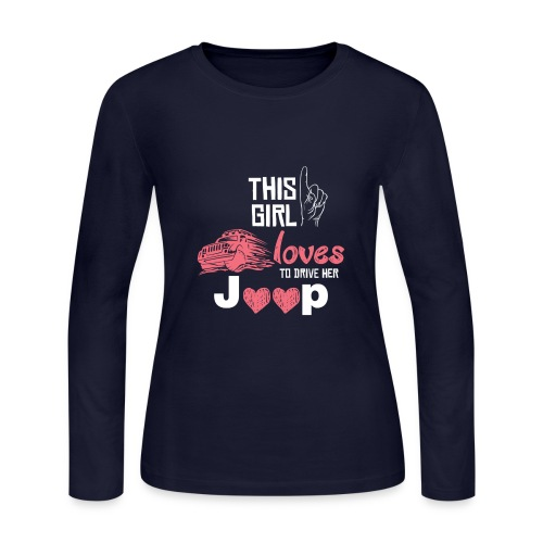 This Girl Loves To Drive Her Joop Tees For Girls - Women's Long Sleeve Jersey T-Shirt