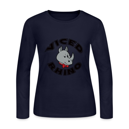 Viced Rhino Logo - Women's Long Sleeve Jersey T-Shirt