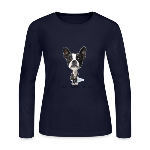 It Was Probably the Cat - Women's Long Sleeve Jersey T-Shirt