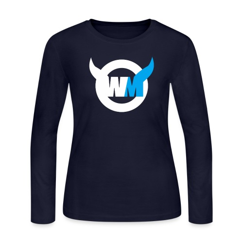 WTFMoses Logo white/blue - Women's Long Sleeve Jersey T-Shirt
