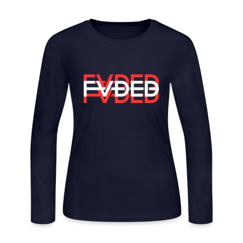 FVDED Red/White - Women's Long Sleeve Jersey T-Shirt