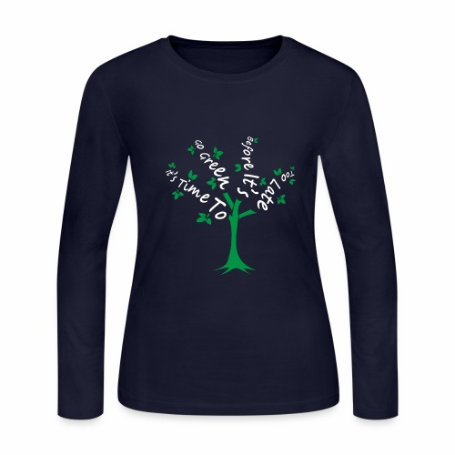 Green Tree - Women's Long Sleeve Jersey T-Shirt