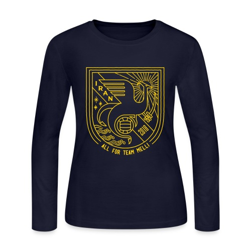 simorgh badge - Women's Long Sleeve Jersey T-Shirt