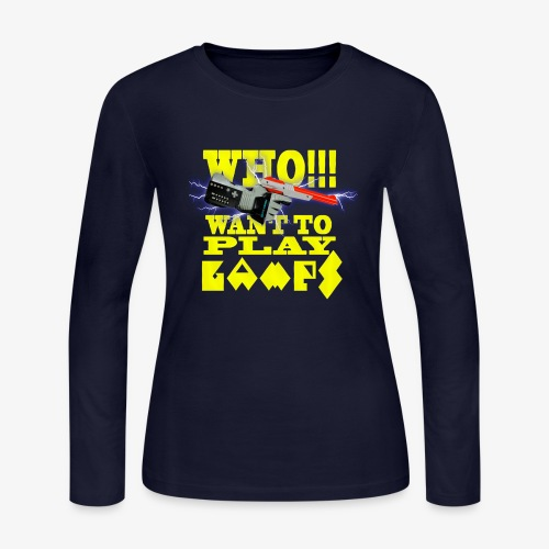 who want to play games - Women's Long Sleeve Jersey T-Shirt