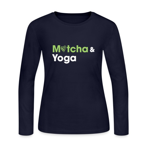 Matcha & Yoga T-shirt - Women's Long Sleeve Jersey T-Shirt