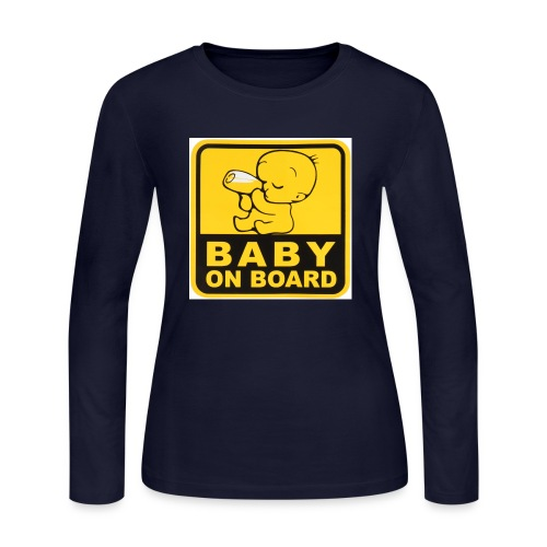 baby inside - Women's Long Sleeve Jersey T-Shirt
