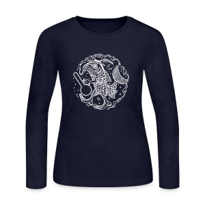 fishy white - Women's Long Sleeve Jersey T-Shirt