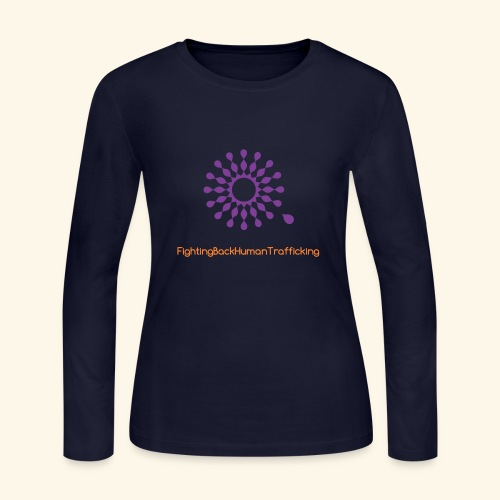 Fighting back human trafficking - Women's Long Sleeve Jersey T-Shirt