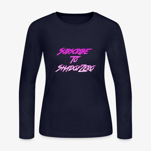 Subscribe To ShadoxZero - Women's Long Sleeve Jersey T-Shirt