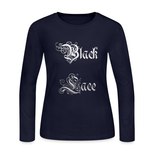 Black Lace Media logo - Women's Long Sleeve Jersey T-Shirt