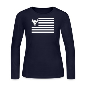 PivotBoss Flag White - Women's Long Sleeve Jersey T-Shirt