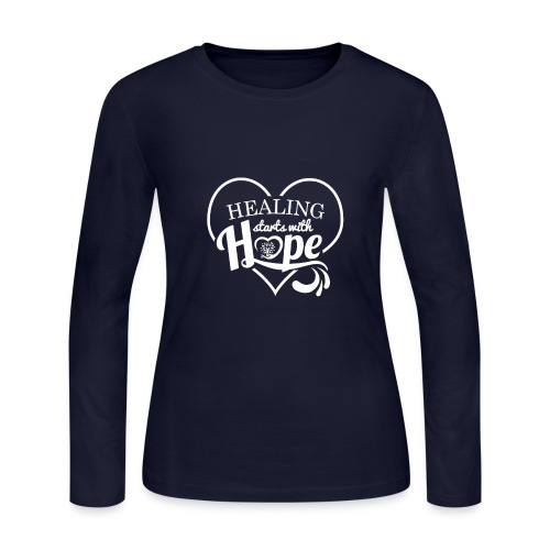 Healing with Hope - Women's Long Sleeve Jersey T-Shirt