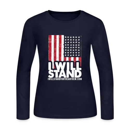 The Original I Will Stand For The Anthem Design - Women's Long Sleeve Jersey T-Shirt