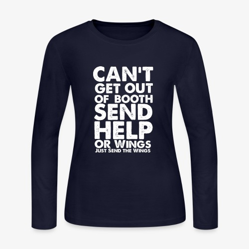 Can't Get Out Of Booth | Gifts for Voice Actors - Women's Long Sleeve Jersey T-Shirt