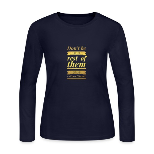 Coco Chanel - Women's Long Sleeve Jersey T-Shirt