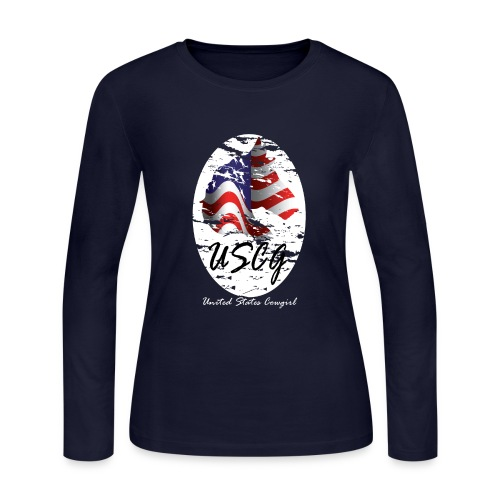 United States Cowgirl Shirts - Women's Long Sleeve Jersey T-Shirt