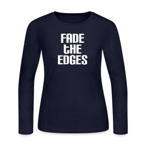 Fade the Edges White - Women's Long Sleeve Jersey T-Shirt