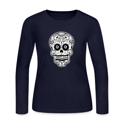 Calavera mexicana - Women's Long Sleeve Jersey T-Shirt