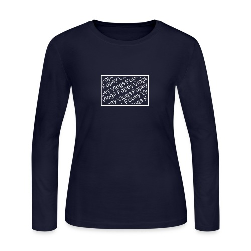 This is a Fopey Vlogs constant text logo - Women's Long Sleeve Jersey T-Shirt