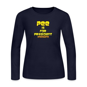 pee for president - Women's Long Sleeve Jersey T-Shirt
