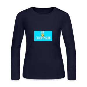 RIP ClubPenguin - Women's Long Sleeve Jersey T-Shirt