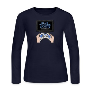 Blue Thumbs Gaming: Gamepad Logo - Women's Long Sleeve Jersey T-Shirt