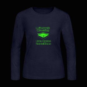 Mid-South Wrestling News Neon/Lime Green - Women's Long Sleeve Jersey T-Shirt