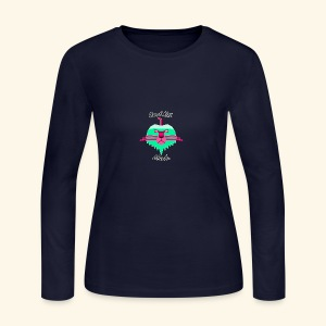 Cool Kat Mech. (Neon Glow) - Women's Long Sleeve Jersey T-Shirt