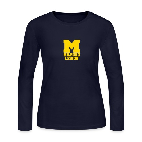 Milford-Legion Logo - Women's Long Sleeve Jersey T-Shirt