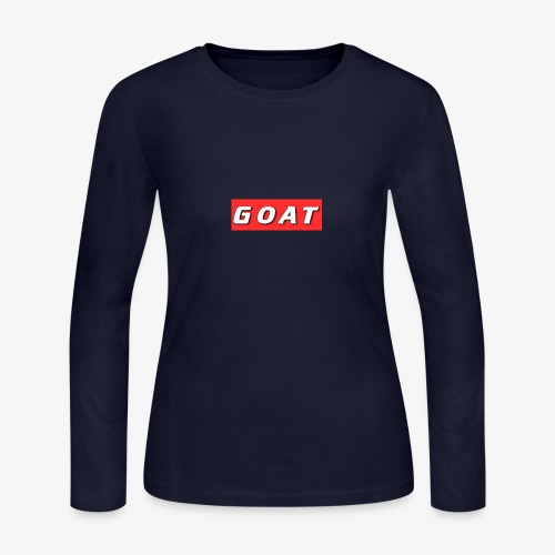 GOAT BOX LOGO - Women's Long Sleeve Jersey T-Shirt