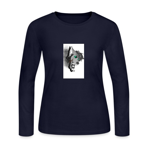 dj d3mon king wolfmutt logo - Women's Long Sleeve Jersey T-Shirt