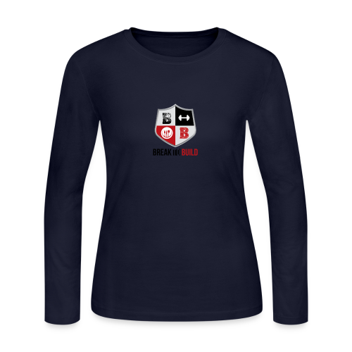 Break To Build Crest & Text - Women's Long Sleeve Jersey T-Shirt