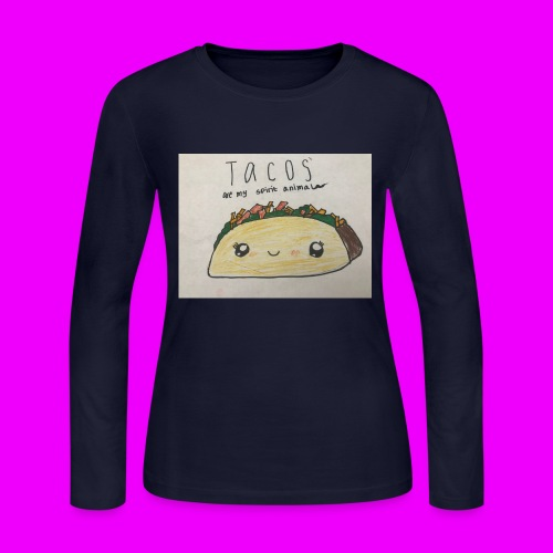 Tacos are my Spirit Animal - Women's Long Sleeve Jersey T-Shirt