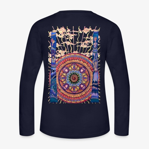 Didgeridoo Mandala - Women's Long Sleeve Jersey T-Shirt