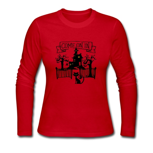 Halloween Haunted house, Come on in - Women's Long Sleeve Jersey T-Shirt