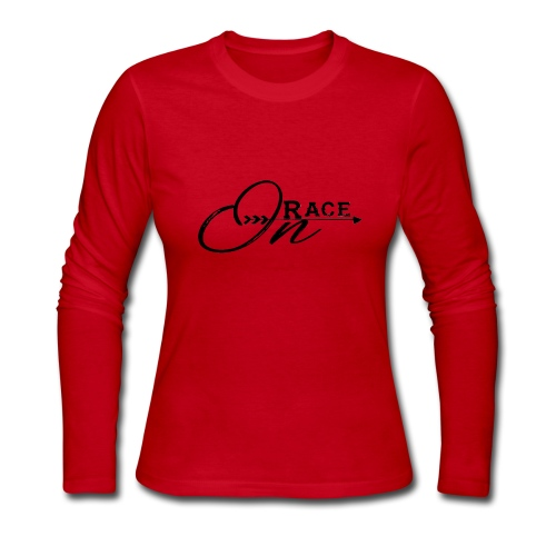 Race On BLACK - Women's Long Sleeve Jersey T-Shirt