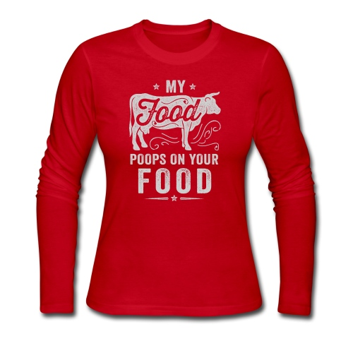 My Food Poops on Your Food - Women's Long Sleeve Jersey T-Shirt