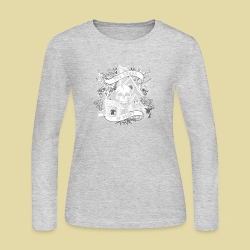 hoh_tshirt_skullhouse - Women's Long Sleeve Jersey T-Shirt