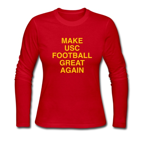 Make USC Football Great Again - Women's Long Sleeve Jersey T-Shirt