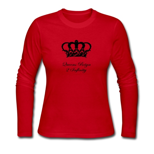 Queensreign2infinity Black - Women's Long Sleeve Jersey T-Shirt