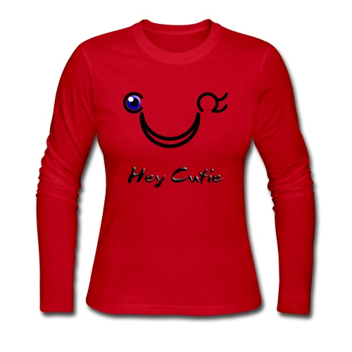 Hey Cutie Blue Eye Wink - Women's Long Sleeve Jersey T-Shirt