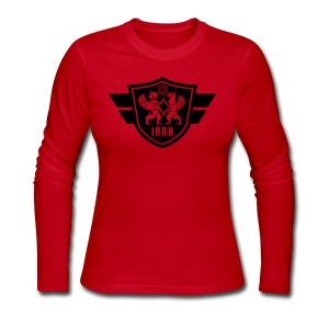Iran crest - Women's Long Sleeve Jersey T-Shirt