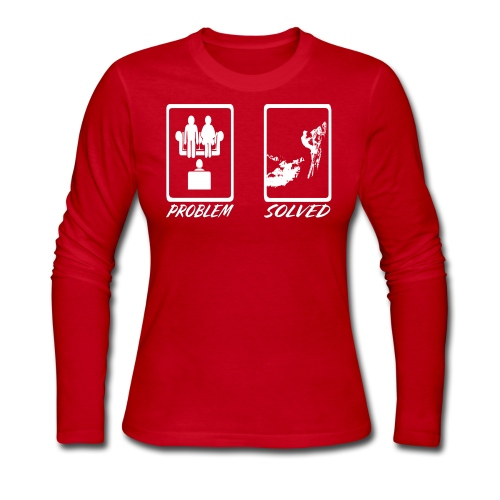 Problem Solved Sled - Women's Long Sleeve Jersey T-Shirt