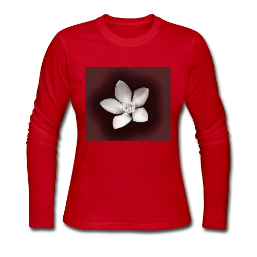 Beautiful Flower Design - Women's Long Sleeve Jersey T-Shirt