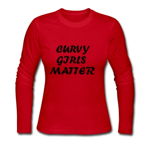 CURVY GIRLS MATTER - Women's Long Sleeve Jersey T-Shirt