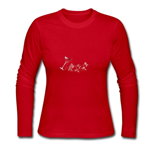Signature Martini Tip Over - Women's Long Sleeve Jersey T-Shirt