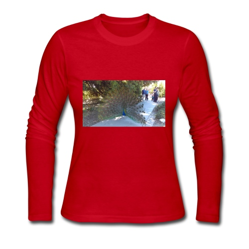 Peacock with wings - Women's Long Sleeve Jersey T-Shirt